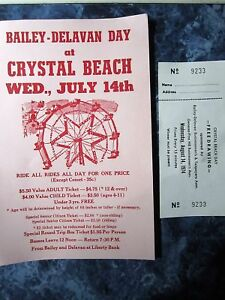 Vintage Crystal Beach Amusement Park Flyer Prices Comet