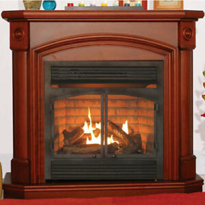 details about ventless heater fireplace natural gas propane lp mantel