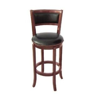 Swivel Wooden Pub Counter Bar Stool with Back