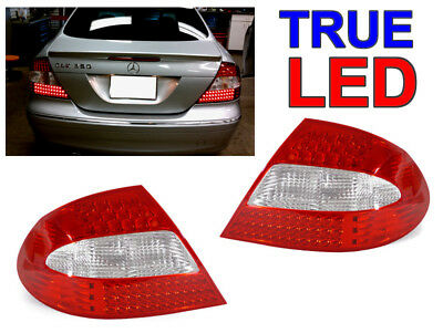 Depo 2003-09 Mercedes Benz W209 Clk Red/clear Led Rear Tail Light Amg Plug&play