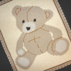 Crochet Patterns Baby Bear Graph Afghan Pattern Easy eBay