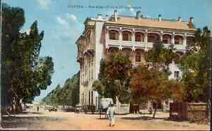 Marokko-CPA-Kenitra-Strasse-Albert-1er