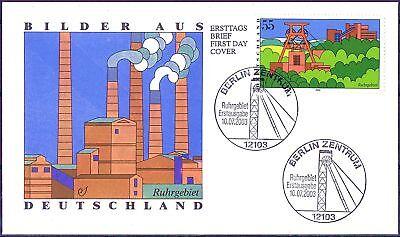 BRD 2003: Industrielandschaft Ruhrgebiet! FDC Nr 2355 mit Berliner Stempeln 1802