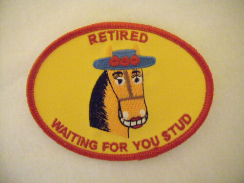 New Women Gold Horse Retired Waiting 4U Stud Gold Patch