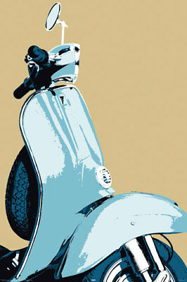 Poster POP ART - Scooter / Vespa Close Up NEU 57376