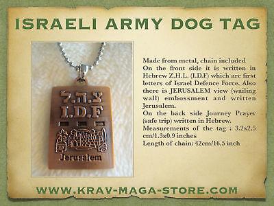 Krav Maga Israeli Army Dog Tag Idf Engraved On It, Limited