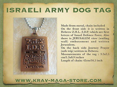 Krav Maga Israeli Army Dog Tag Idf Engraved On It, Limited