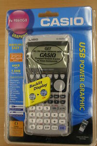 Casio FX-9860GII USB Power Graphic Calculator Brand New
