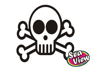 18-x-Skull-Crossbones-Stickers-Car-Window-Wall-Decals