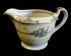 Vintage-Creamer-MARGUERY-Hand-Painted-JAPAN-Floral