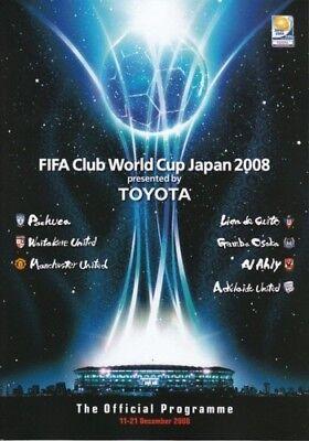 2008 FIFA WORLD CLUB TOURNAMENT PROGRAMME (MAN UTD)