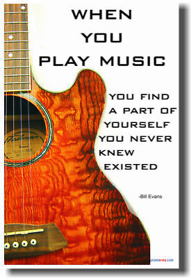 When You Play Music - Music Acoustic Guitar Poster