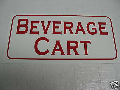 Vintage Style Beverage Cart Sign Golf Wedge Ball Tin 4 Home Golf Course Club
