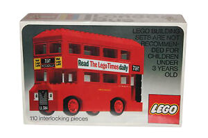 Lego Traffic London Bus New SEALDED 1975' Vintage United Kingdom Vehicle