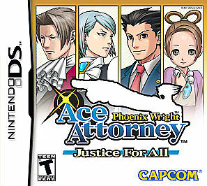 Nintendo DS Game Cartridge Only Phoenix Wright Ace Attorney Justice for All 1