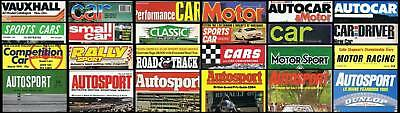 OLD CAR MAGAZINES and BROCHURES