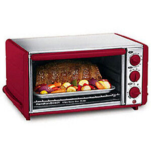 Hamilton-Beach-Red-Stainless-Steel-Ensemble-6-slice-Toaster-Oven-w-Broiler