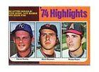 1975 Topps Dick Bosman/ Steve Busby/ Nolan Ryan #7 Baseball Card