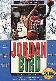 JORDAN-VS-BIRD-NBA-ONE-ON-ONE-Sega-Genesis-Game-w-CASE