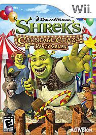 Shrek s Carnival Craze Party Games Nintendo Wii, 2008  - $5.00