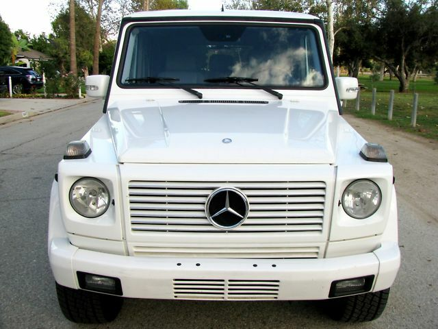 2003 mercedes benz g500 g class suv white gray luxury for Mercedes benz suv used for sale