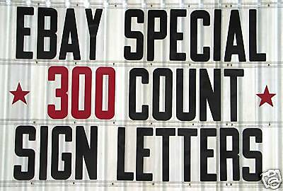 8 On 8 78 Plastic Sign Letters Numbers 300 Pc Set