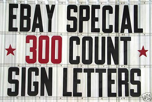 """8"""" ON 8 7/8"""" plastic SIGN LETTERS & NUMBERS 300 pc Set"""