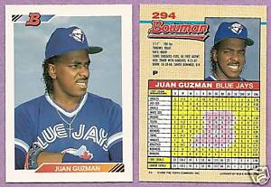 1992-Bowman-Single-Juan-Guzman-Toronto-Blue-Jays-294