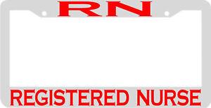 image is loading rn registered nurse license plate frame