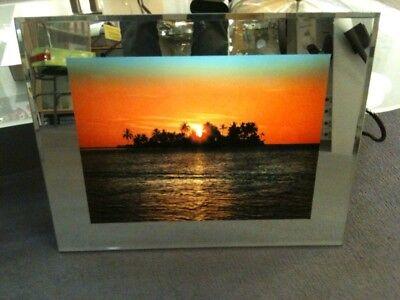 Beleuchtetes Bild , Sonnenuntergang , Wandbild , Trauminsel, NEU
