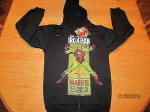 Iron-Man-Marvel-Comics-Mens-Hoodie-Comic-Print-Long-Sleeve-Cotton-NWT