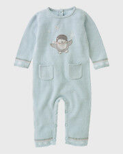 NWT NEW Janie & Jack Little Penguin Sweater Romper NB 7 lb ( Winter / Boys ) HTF