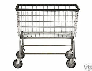 Large Capacity Laundry Cart On Wheels W Basket 4 5 Bu Ebay