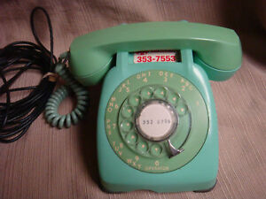 OLD Two Tone GREEN PHONE - MONOPHONE Automatic Electric