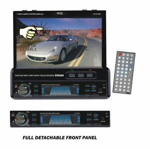 Pyle-PLTS79BT-Car-1-Din-In-Dash-7-034-Bluetooth-Touch-Screen-DVD-CD-MP3-USB-Player