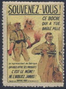 france 1920 timbre propagande anti allemagne commerce ebay. Black Bedroom Furniture Sets. Home Design Ideas