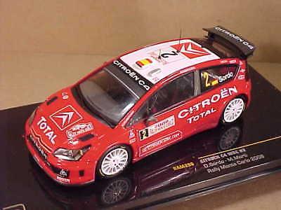 1/43 Diecast Ixo Citroen C4, 11th '08 Monte Carlo Rally