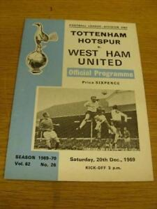 20-12-1969-Tottenham-Hotspur-v-West-Ham-United-No-ob