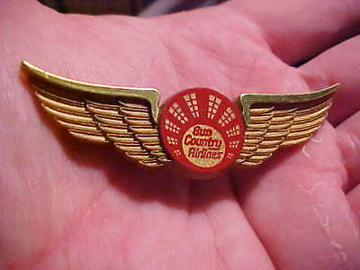 Vintage Sun Country Airlines Junior Wings  Great Wings