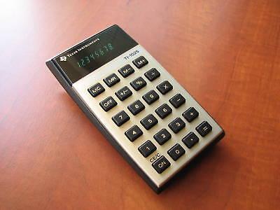 NEW Very RARE 1977 Vintage NOS Texas Instruments TI1025 Green-VFD Calculator