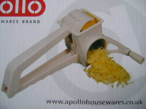NEW-BOXED-APOLLO-ROTARY-GRATER-STAINLESS-STEEL-CHEESE