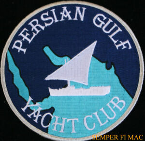 PERSIAN-GULF-YACHT-CLUB-PATCH-US-NAVY-MARINES-PIN-UP-USS-DESERT-STORM-OEF-OIF