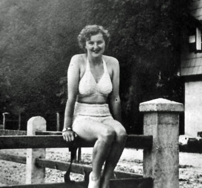 Eva Braun- Hitler's Girlfriend In Swimsuit - Real Photo - Reprint