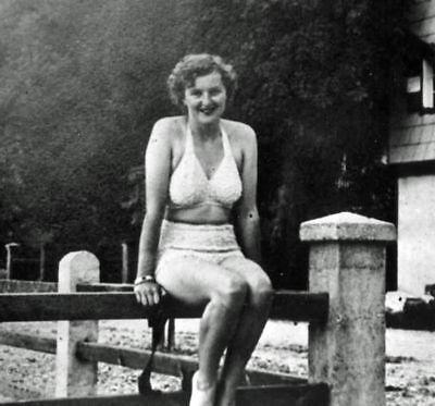 Eva Braun- Hitler's Girlfriend In Swimsuit - Real Photo - Reprint