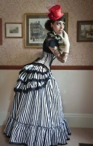 LOVECHILD-BOUDOIR-VICTORIAN-WHITBY-STEAMPUNK-GOTHIC-GOVERNESS-SKIRT-amp-BUSTLE