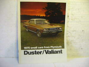 1975-PLYMOUTH-DUSTER-VALIANT-SALES-LITERATURE-NOS