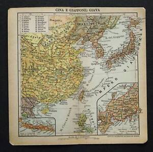 XX-Sec-Gravur-Geografical-Map-CHINA-GIAPPONE-GIAVA