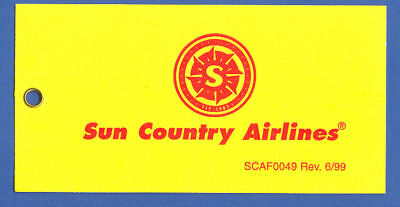 Sun Country Airlines Us Baggage Tag