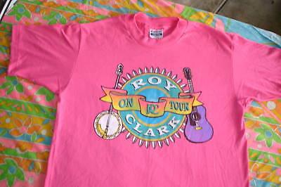 VINTAGE ROY CLARK TOUR SHIRT 1989 GUITAR SHIRT HEE HAW