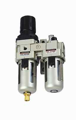 1pc 1/4 Npt Filter/regulator + Lubricator Combo 1700 L/min Mettleair Ac3010-n02